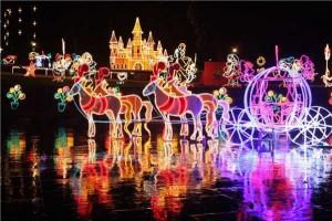Luces Navideñas Monumento de la Independencia Puente de Boyaca Tema Disneylandia